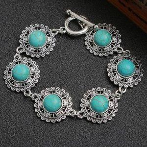 Sterling Silver Natural Turquoise Bracelet      B4